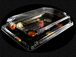 Caserole din Plastic pentru Sushi  Caserole plastic sushi caserole plastic sushi caserole cu capac 20 1 300x225