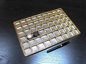Chese pentru praline  Chese praline chese aurii pentru 54 praline 1549 1 300x225
