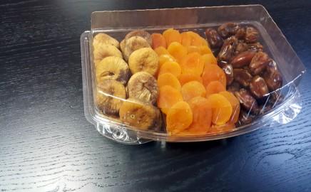 Caserola cu 3 compartimente pentru fructe uscate si seminte (model Elegance 4121)